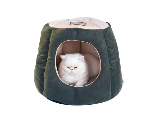 Armakat Cat Bed Laurel Green and Beige
