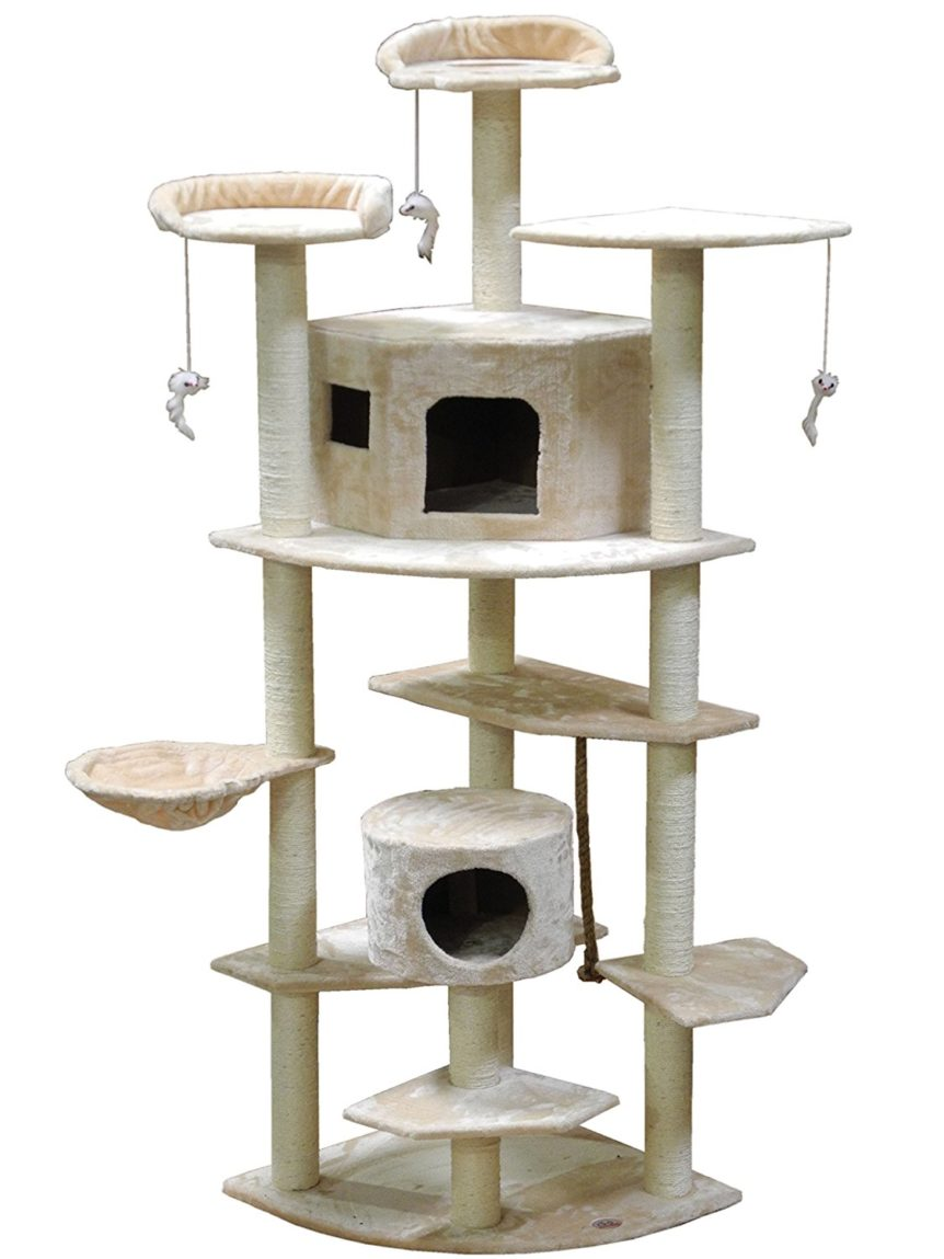 Go Pet Club Cat Tree 80 inch Beige