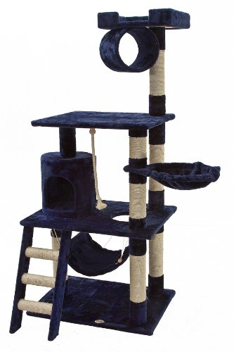 Go Pet Club Tree 62 inch blue