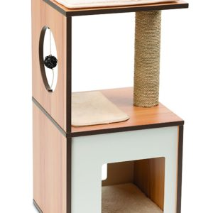 Vesper Cat Furniture V-Box Small Walnut