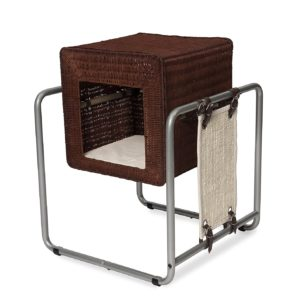 Vesper Cat Furniture V-Cube Cat Cave Rattan