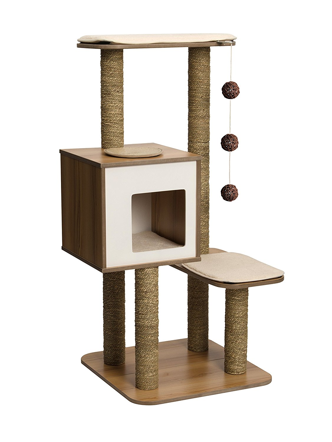 Vesper Cat Furniture V-High Base Walnut