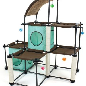 Kitty City Steel Jaw Mega Kit Cat Condo Duplex